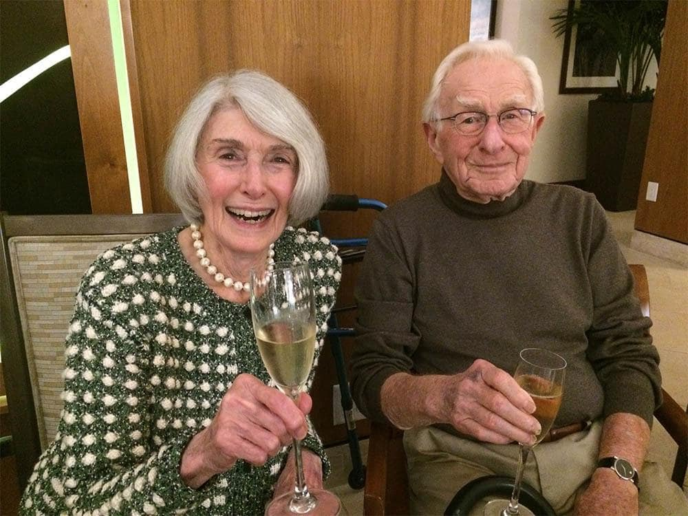 Residents Celebrating New Years Eve at The Patrician, A Merrill Gardens Community