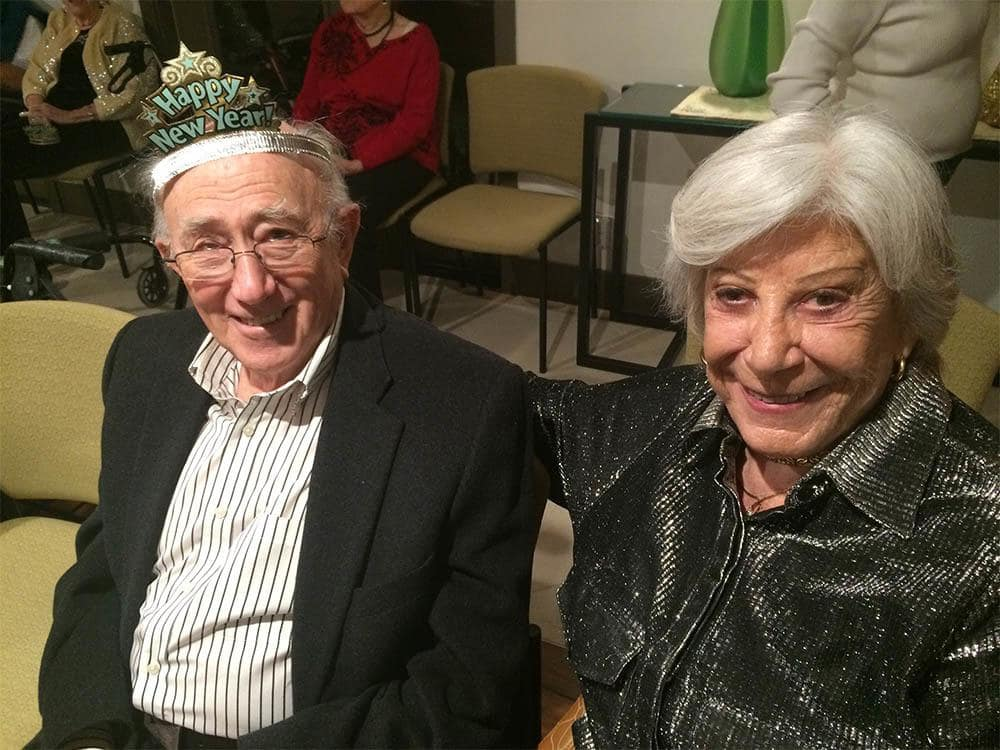 Residents Celebrating New Years at The Patrician, A Merrill Gardens Community