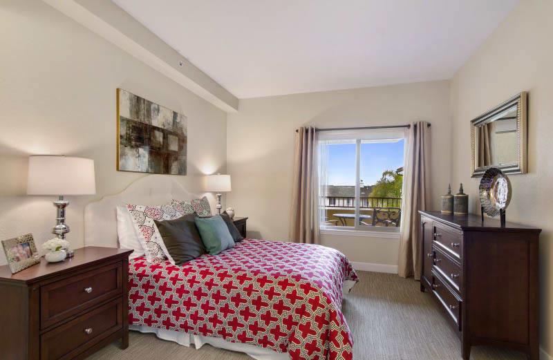 Bedroom at senior living in San Diego, CA