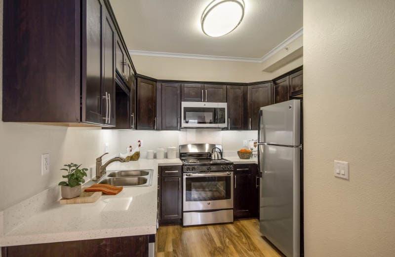 Spacious kitchen at San Diego senior living