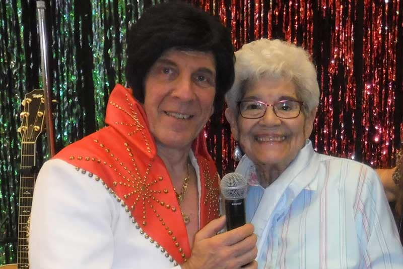Elvis singing at The Groves, A Merrill Gardens Community in Goodyear, Arizona.