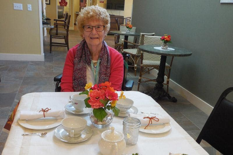 Resident Enjoying Holidays at The Groves, A Merrill Gardens Community in Goodyear
