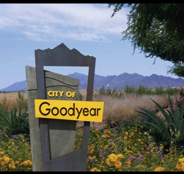 Sign in the neighborhood of Goodyear senior living