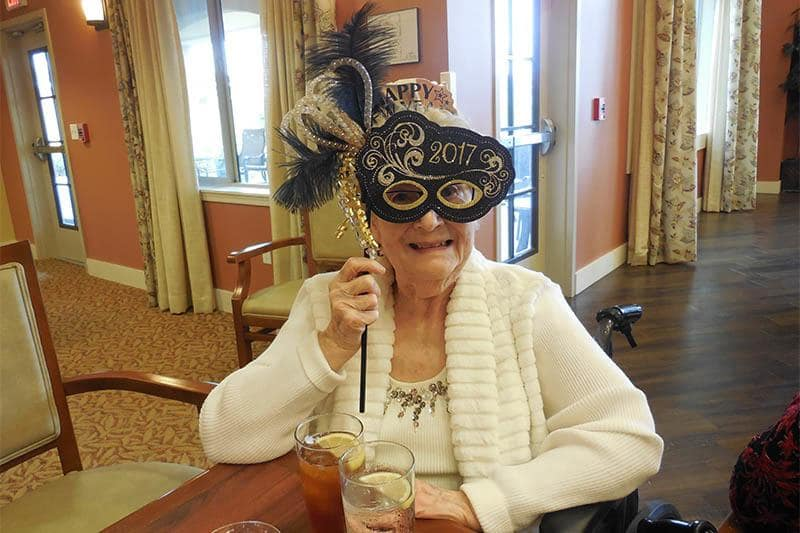 Residents Celebrate New Years at The Groves, A Merrill Gardens Community in The Groves, A Merrill Gardens Community