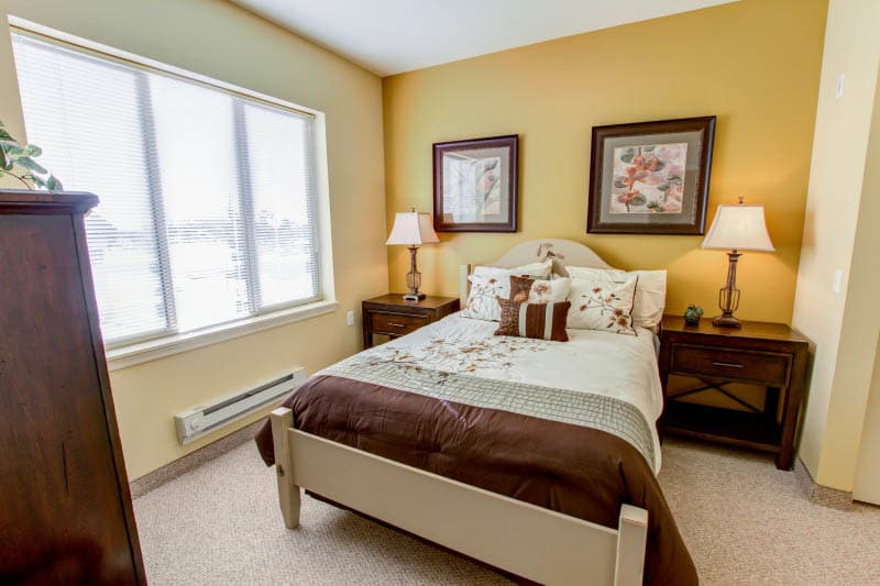 Bedroom at senior living in Goodyear, AZ