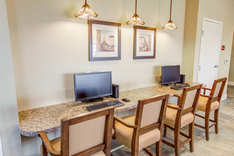 Computer center at Goodyear senior living