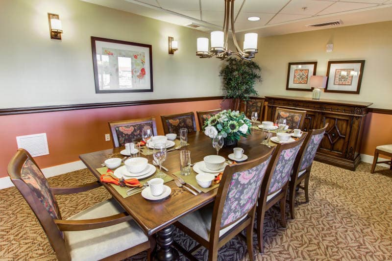 Dining table at Goodyear senior living