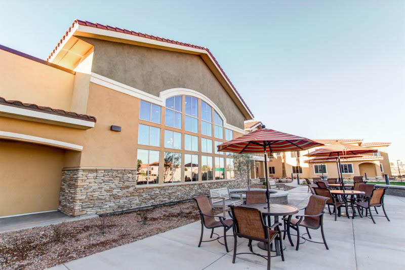 Patio at Goodyear senior living