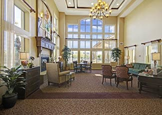 Lobby of our senior living facility in Gilbert