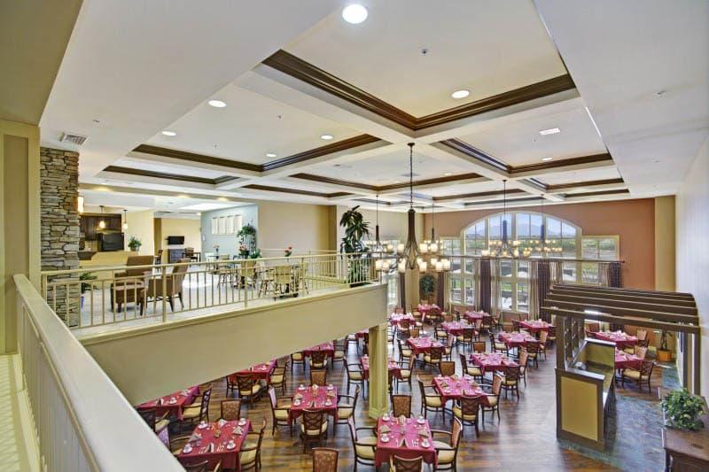 Dining room at The Oaks, A Merrill Gardens Community in Gilbert, AZ
