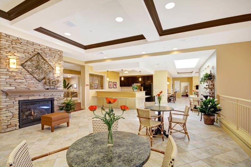 Lounge at senior living in Gilbert, AZ