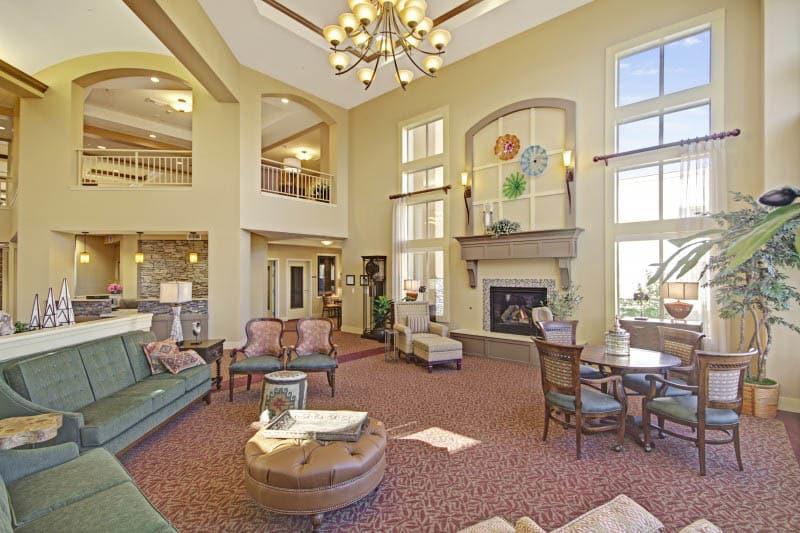 Lobby at The Oaks, A Merrill Gardens Community senior living