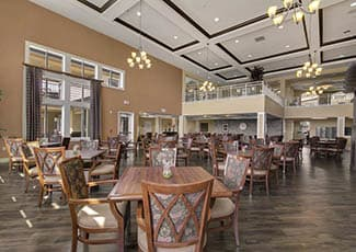 Beautiful dining area at Rocklin senior living
