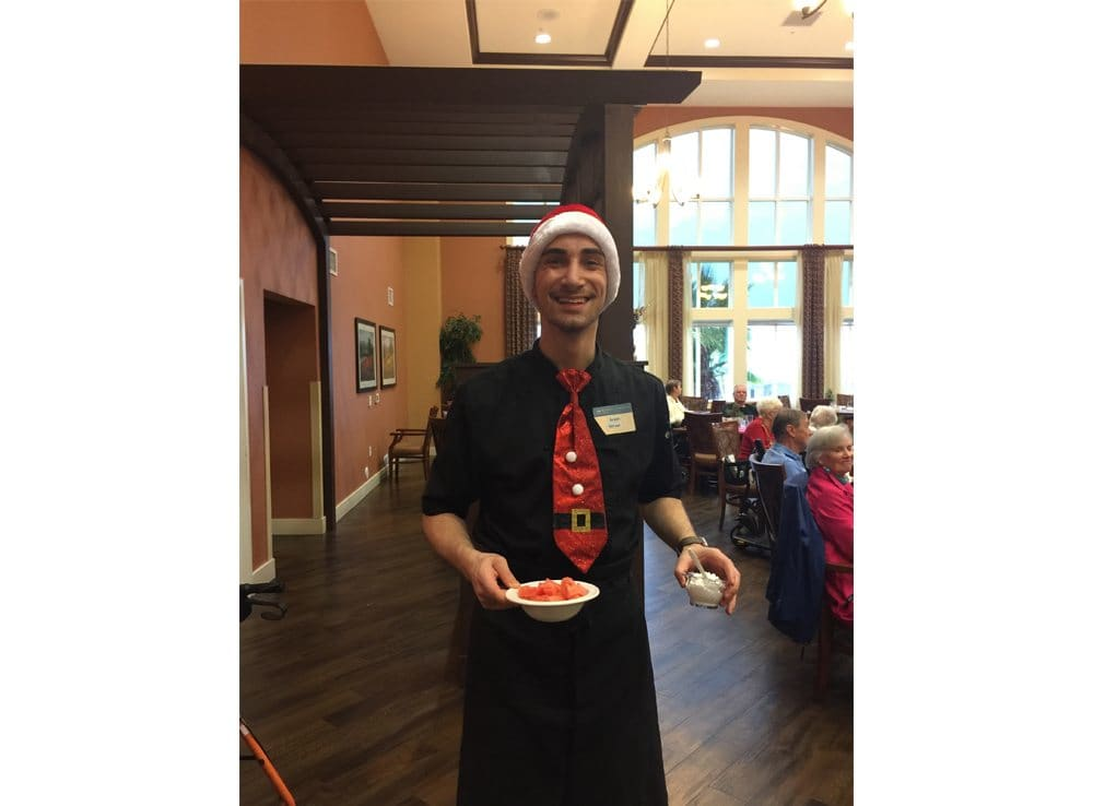 Holiday Server at The Pines, A Merrill Gardens Community in Rocklin