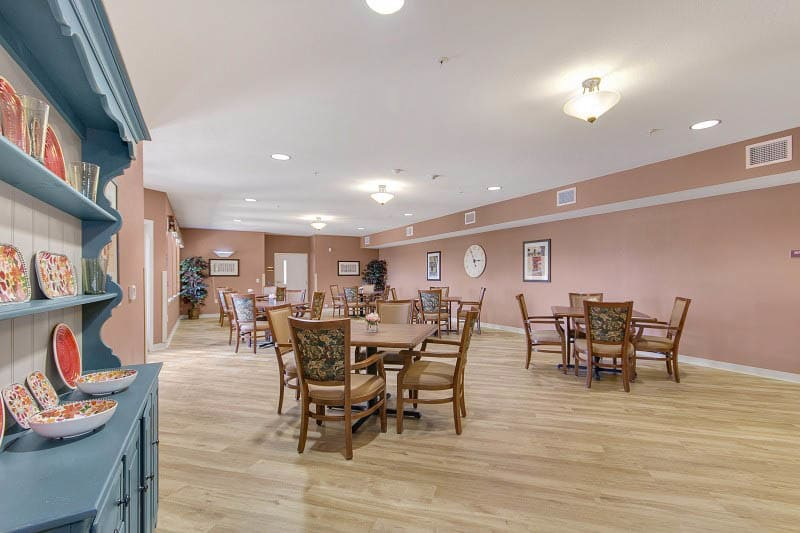 Activity room at Rocklin senior living