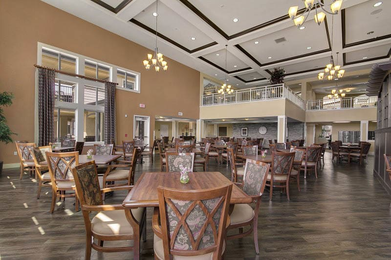 Community dining at The Pines, A Merrill Gardens Community in Rocklin, CA