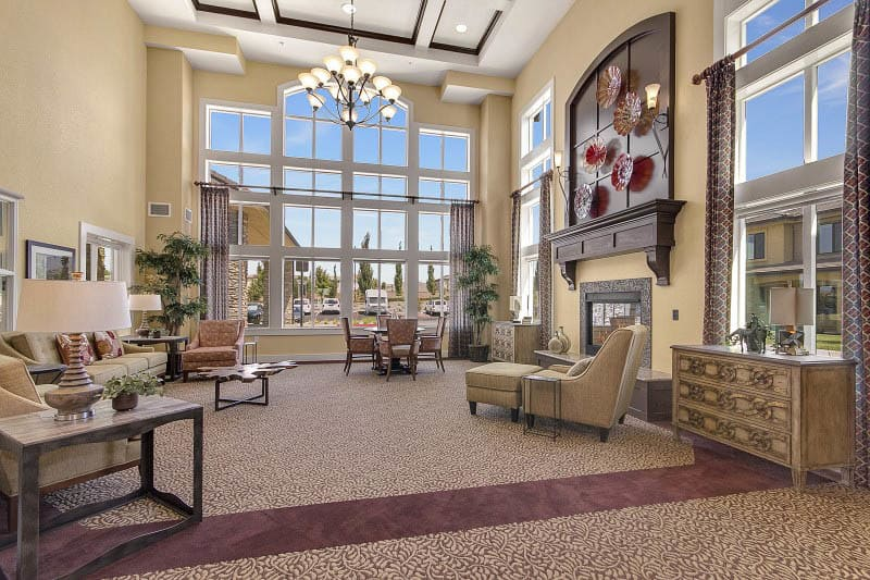 Lounge at The Pines, A Merrill Gardens Community in Rocklin, CA