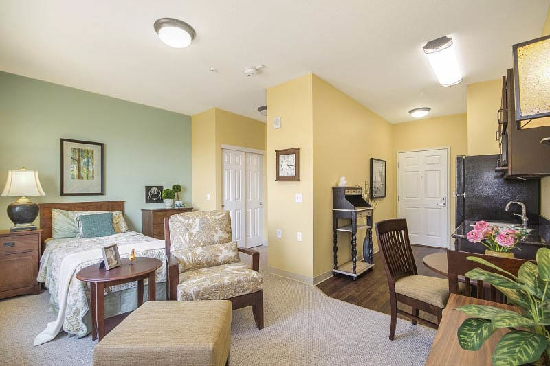 Bedroom at Rocklin senior living