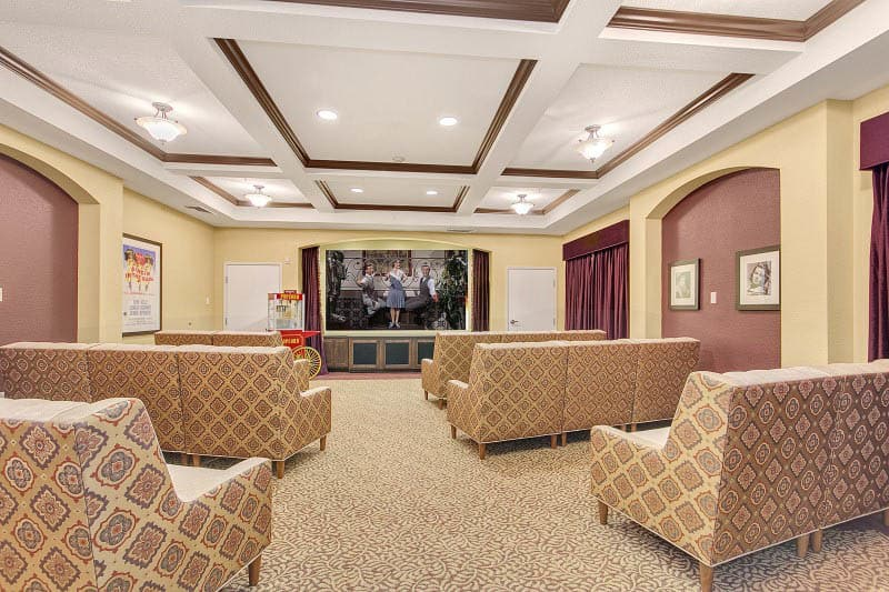 Theater at senior living in Rocklin, CA
