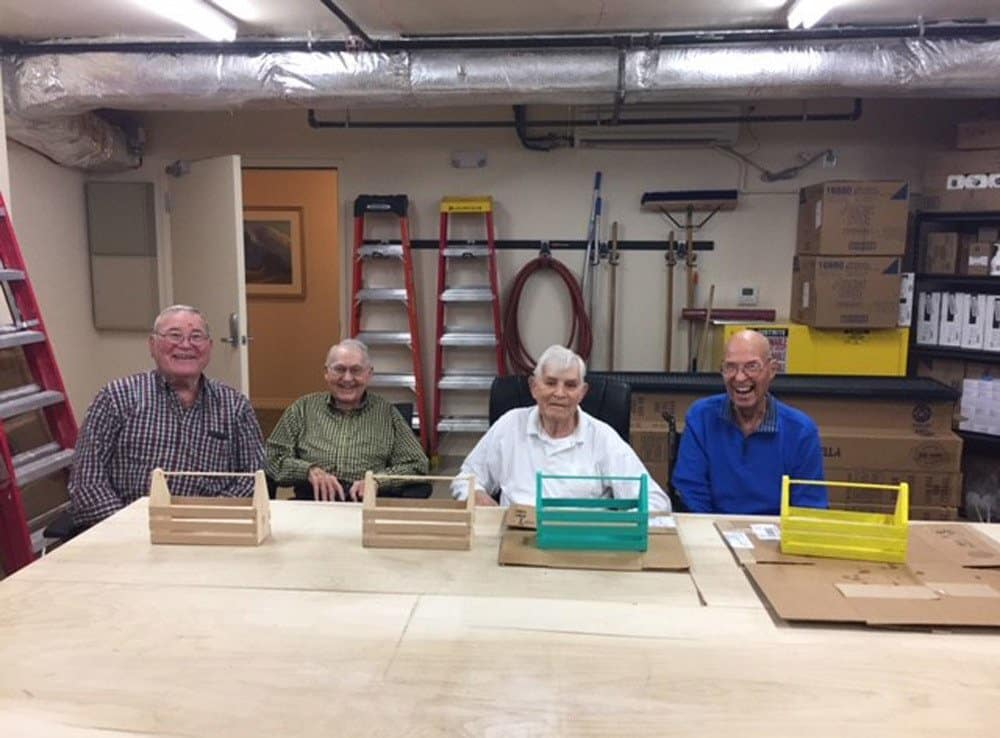 Woodworking Class at Merrill Gardens at Woodstock