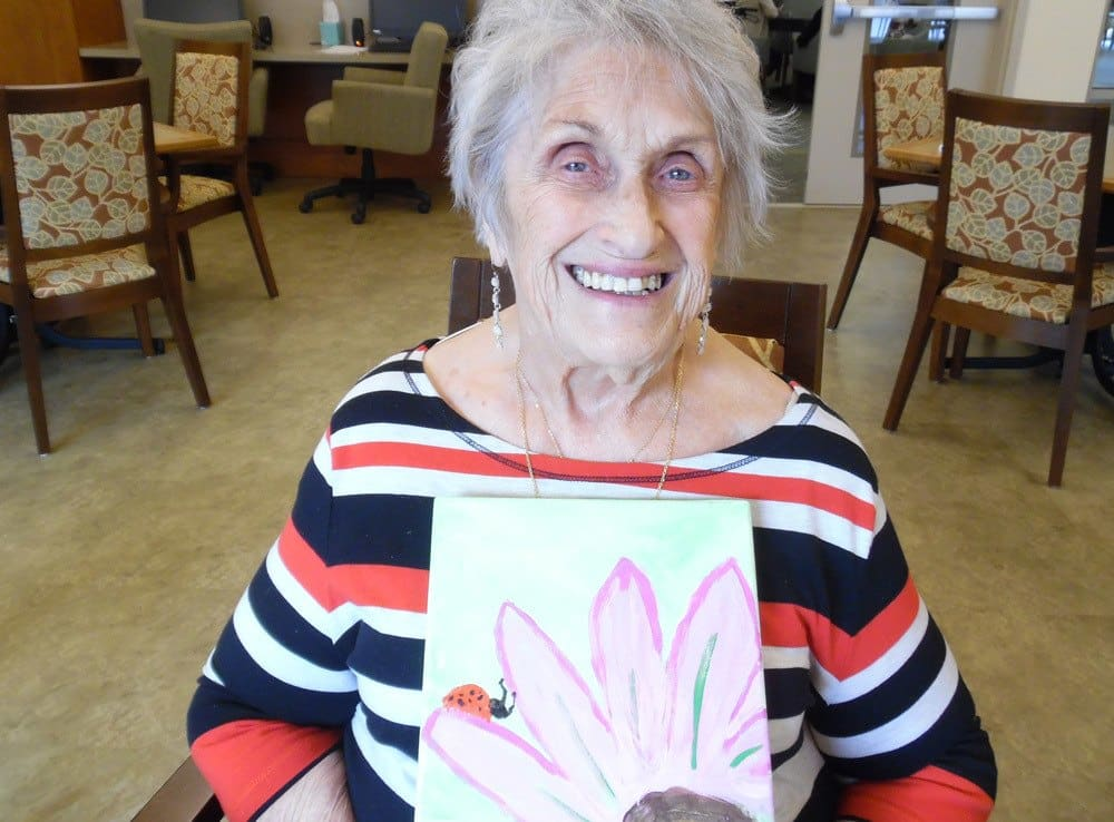 Creative Time with Residents at Merrill Gardens at Woodstock in Woodstock