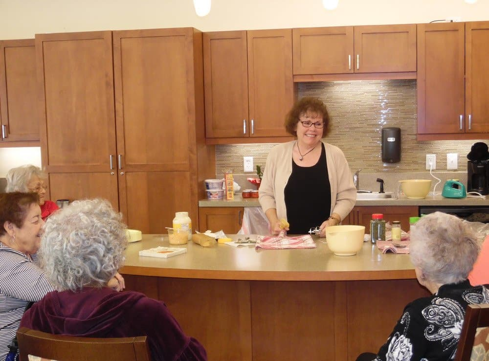 Cooking Presentation at Merrill Gardens at Woodstock in Woodstock