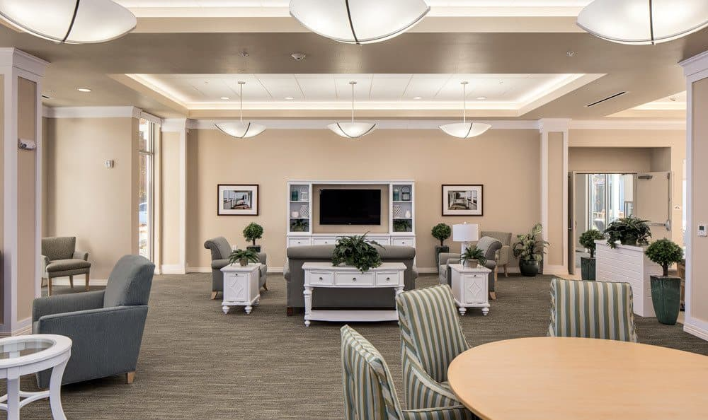 Merrill Gardens at Woodstock Features Large Media Room