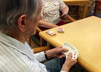 Card game at senior living in Anthem
