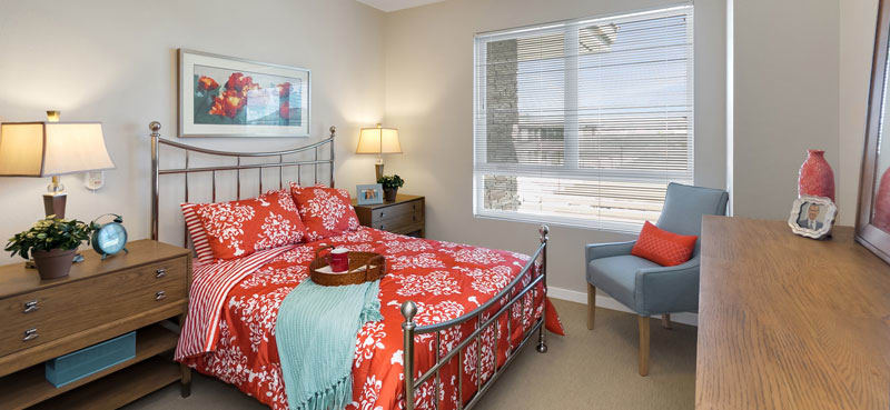 One bedroom at our senior living community