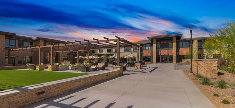 Entrance and walking paths at our senior living community in Anthem, AZ
