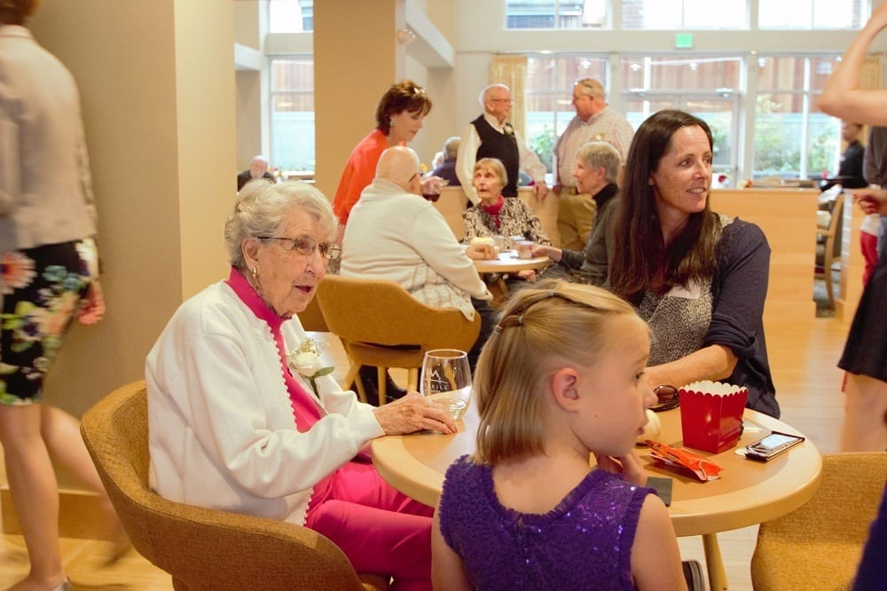 Mother's Day event at our senior living community in Ballard, WA