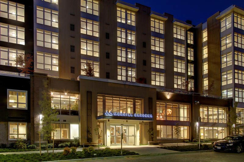 Exterior of senior living in Seattle