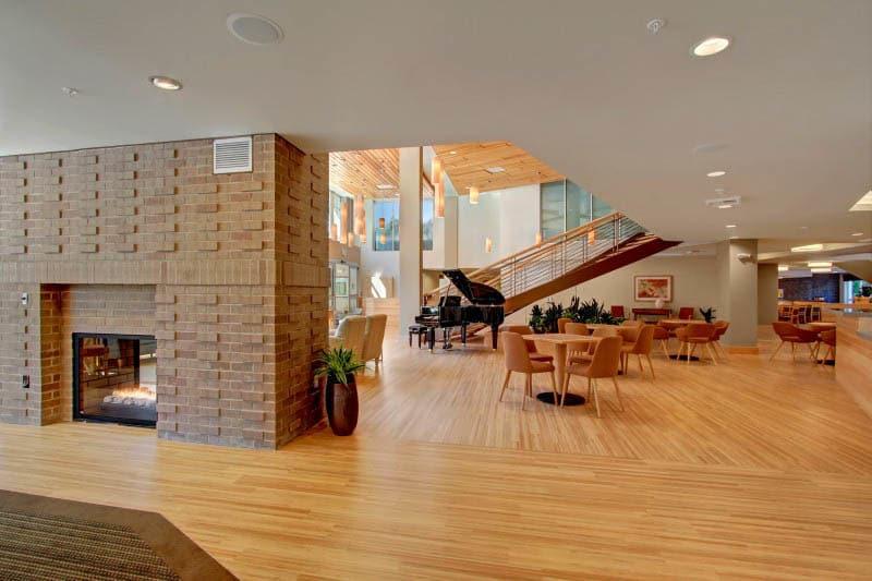 Lobby at Merrill Gardens at Ballard in Seattle, Washington.