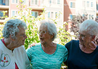 Residents at senior living in Oakland