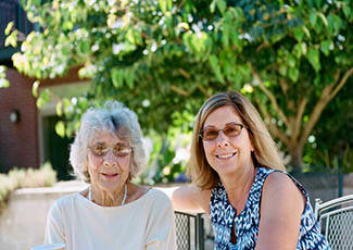 Resident and daughter at Mount Pleasant senior living