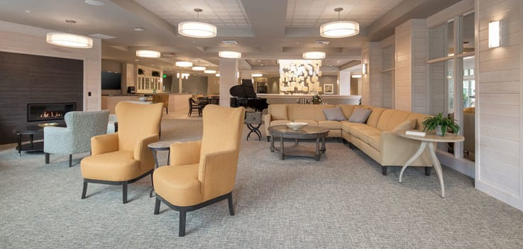 Seating area for residents at our community in Monterey, CA