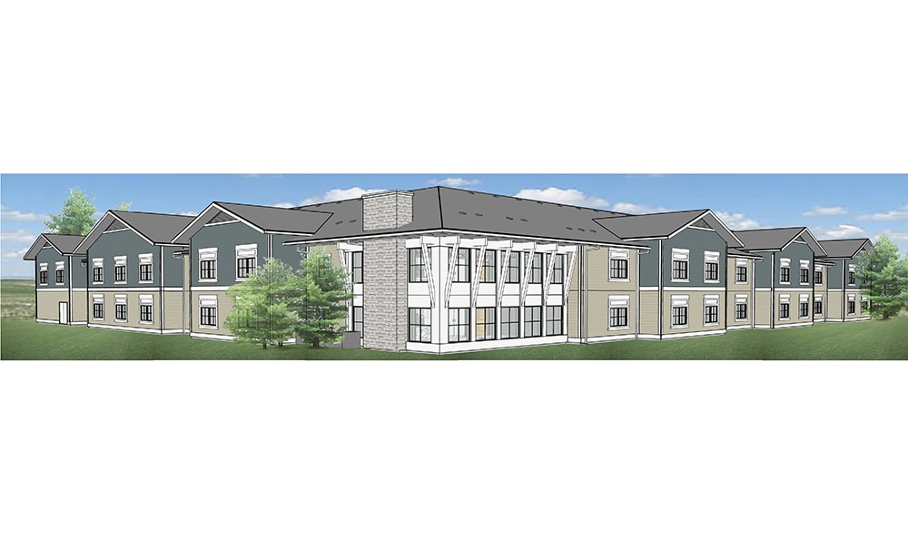 Rendering of the back of Mukilteo Memory Care