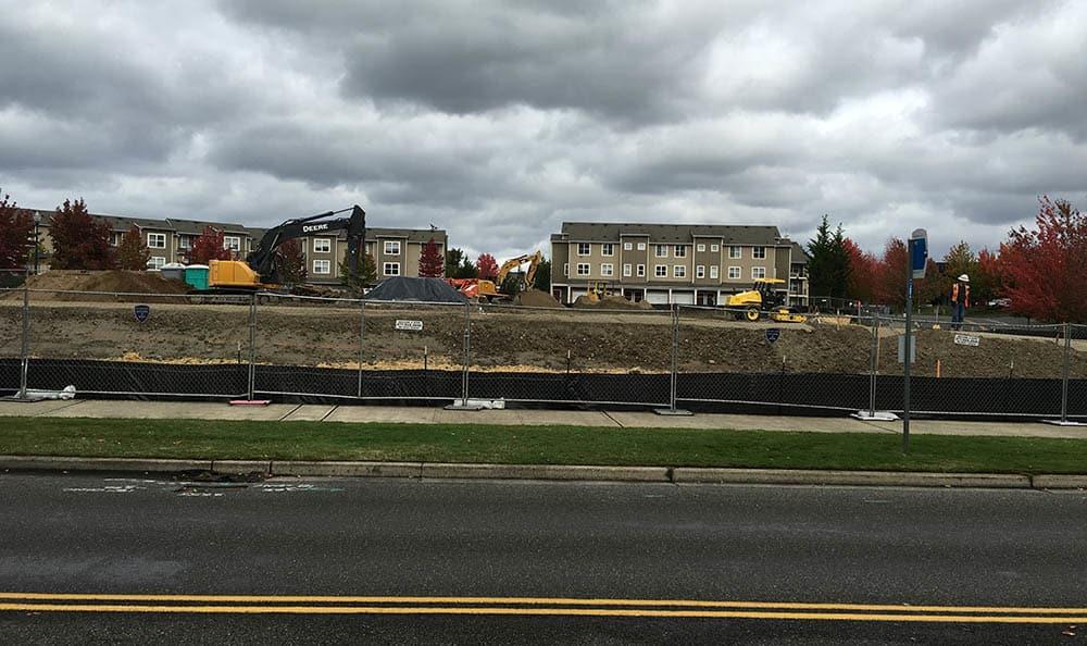 Construction progress at Mukilteo Memory Care