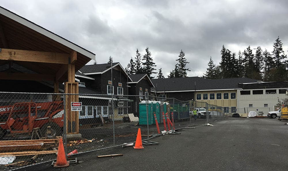 construction nearing completion