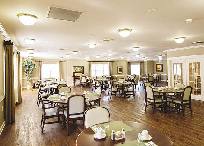dining room at Broadview Assisted Living at Pensacola