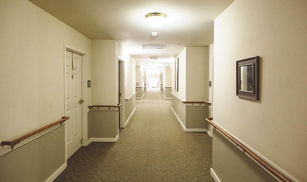 long hallway at Broadview Assisted Living at Pensacola