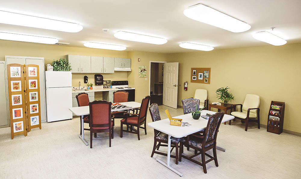 resident kitchen at Broadview Assisted Living at Pensacola