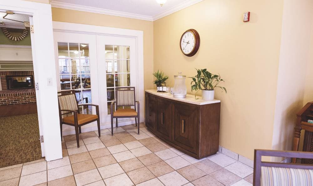 beautiful living room at Broadview Assisted Living at Tallahassee in Tallahassee, FL