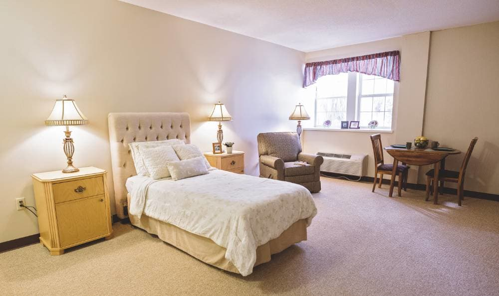 bedroom with wonderful view at Broadview Assisted Living at Tallahassee in Tallahassee, FL