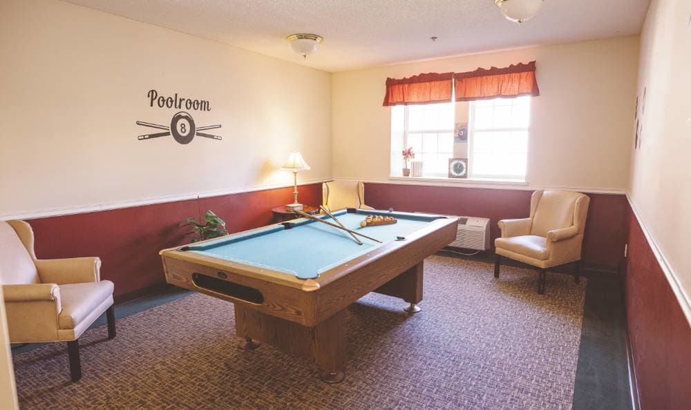 Pool room for our residents at Broadview Assisted Living at Tallahassee