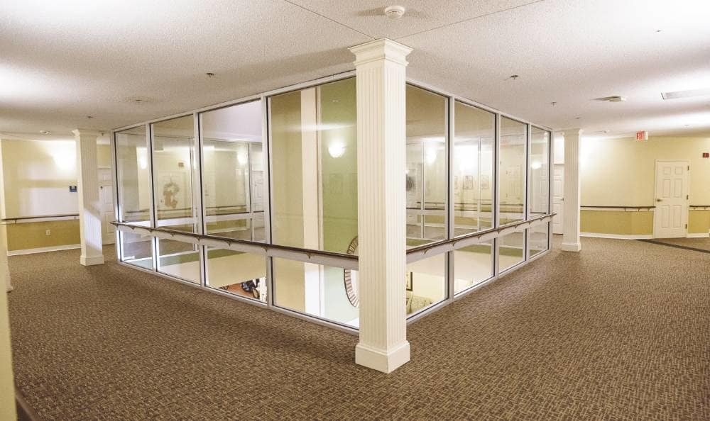 Hallways through our amenities at Broadview Assisted Living at Tallahassee