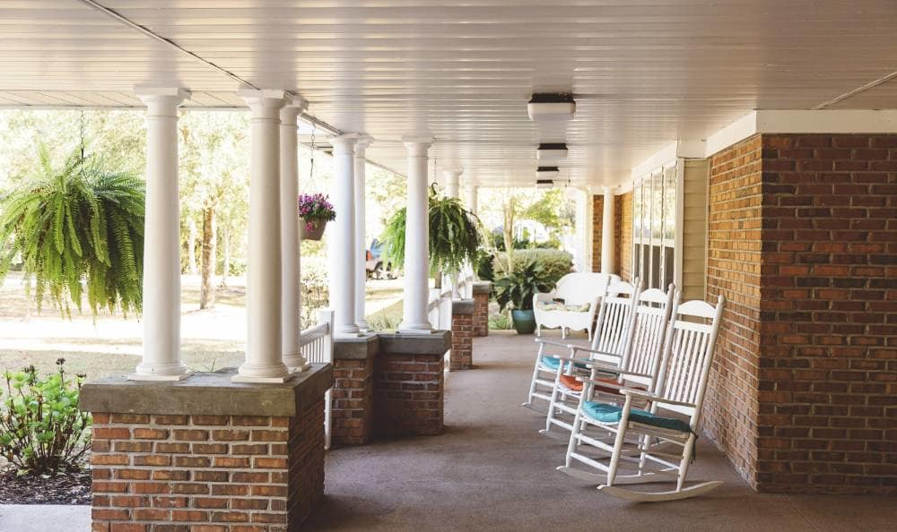 Porch at Broadview Assisted Living at Tallahassee