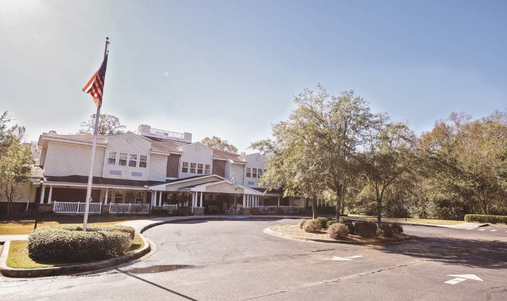 Exterior view of our community at Broadview Assisted Living at Tallahassee