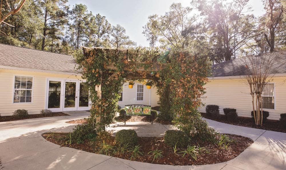 Beautiful gazebo at Tallahassee Memory Care