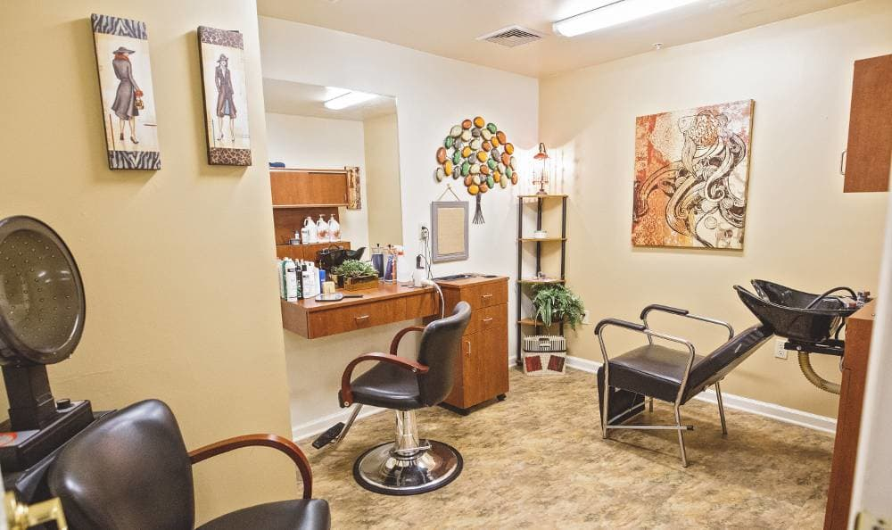 Beauty salon for our residents at Tallahassee Memory Care